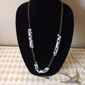"Express dark gold 35"" long necklace"